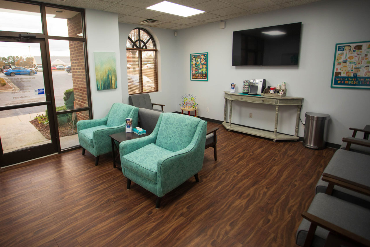 Carolina Therapeutics Greenville, NC office location waiting room